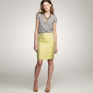 J. Crew Gilded Jacquard Metallic Pencil Skirt